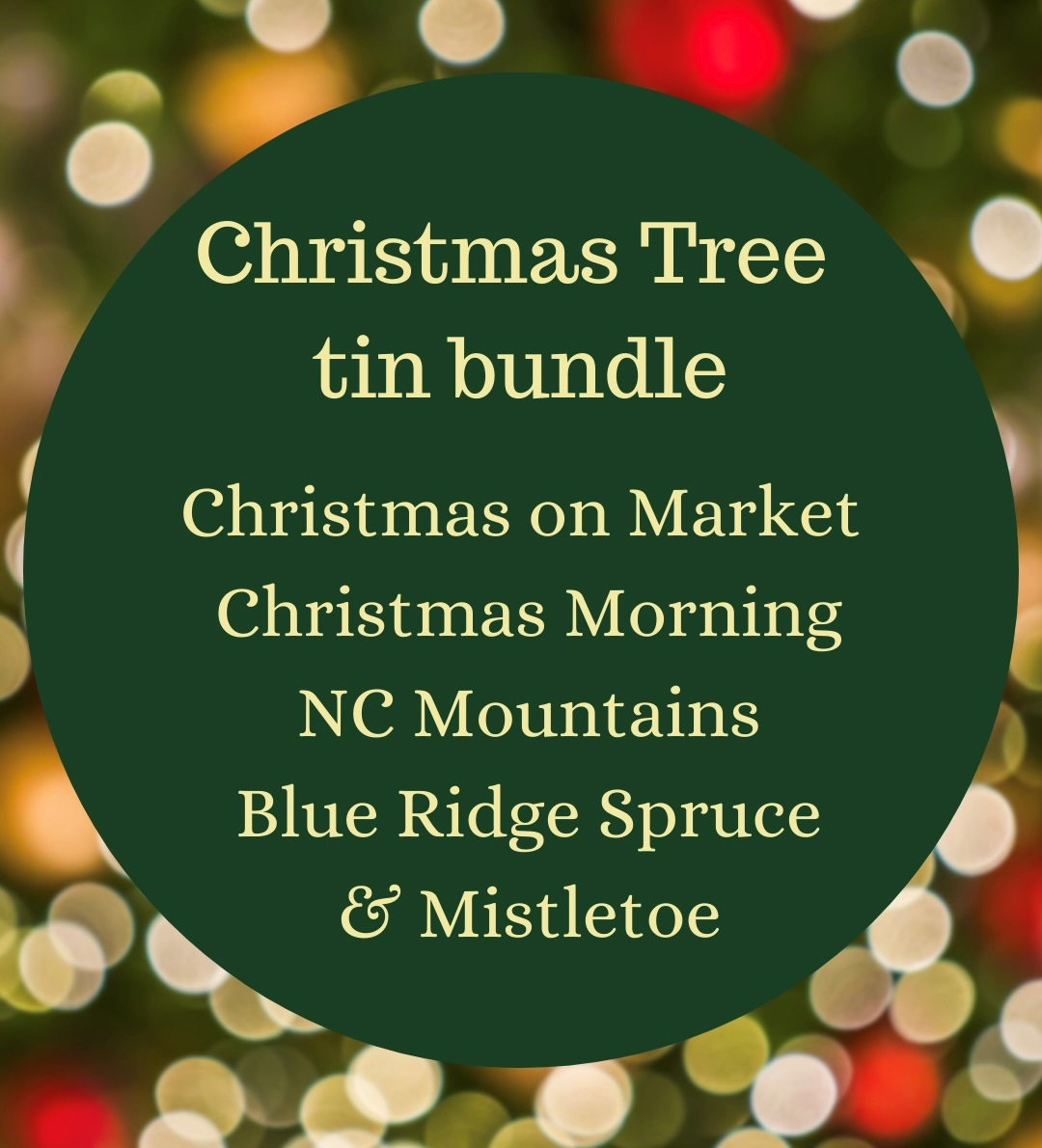 Christmas Tree  tin bundle