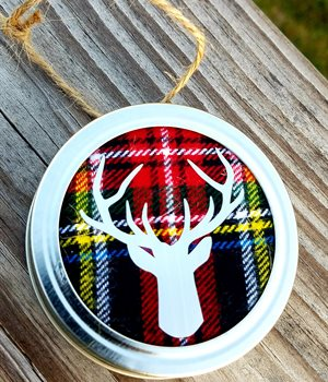 Plaid w/ silver deer
