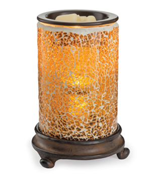 Crackled amber wax melter