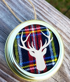 Plaid w/ gold deer